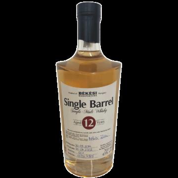 Békési Pálinka Manufaktúra Single Barrel 12 éves Whisky 0,7L