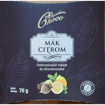 Mák-citromos fehércsokoládé tábla (70g)