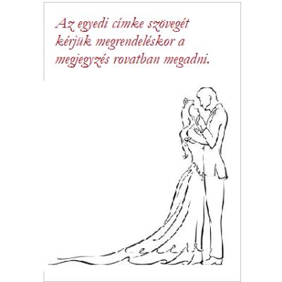 Egyedi címke esküvőre