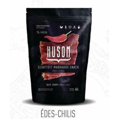 Husom Szárított marhahús snack - édes chilis 25 gr