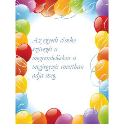 Egyedi címke - születésnapra