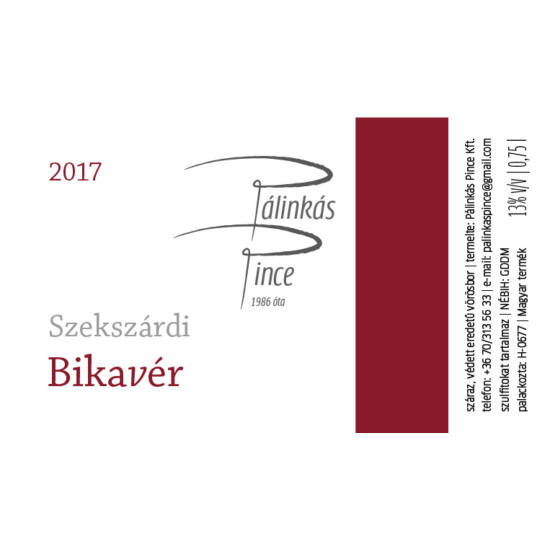 Pálinkás Pince Szekszárdi Bikavér 2017