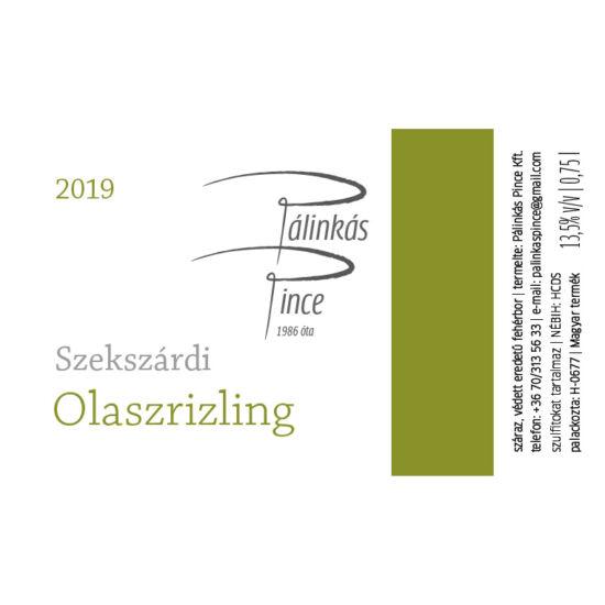 Pálinkás Pince Szekszárdi Olaszrizling 2019