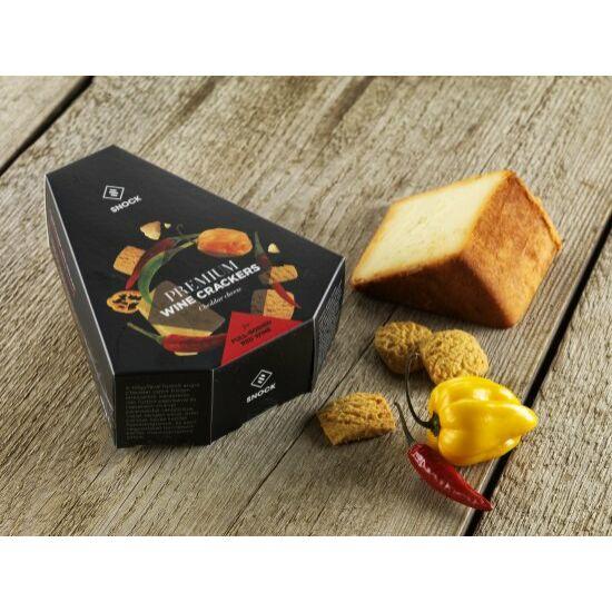 Snock Borkeksz Füstölt Cheddar sajtos-chilis snack 80gr
